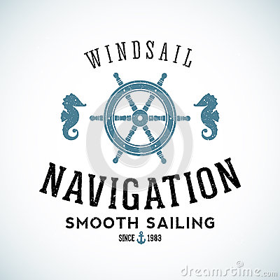 Free Maritime Navigation Abstract Vector Logo Template Stock Photography - 57832122