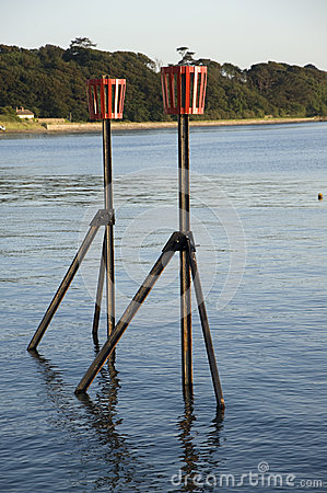 Maritime navigation markers.