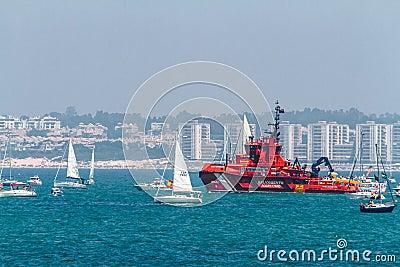 Maritime rescue ship Maria Zambrano Editorial Photo
