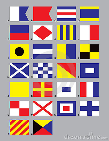 Free Maritime Signal Flags Royalty Free Stock Image - 1369706