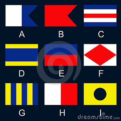 Maritime signal flags A-I