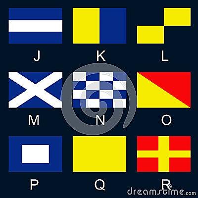 Maritime signal flags J-R