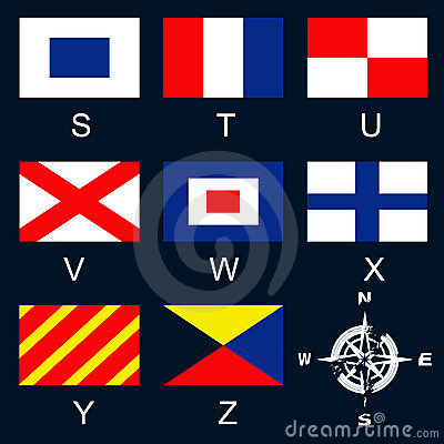 Maritime signal flags S-Z