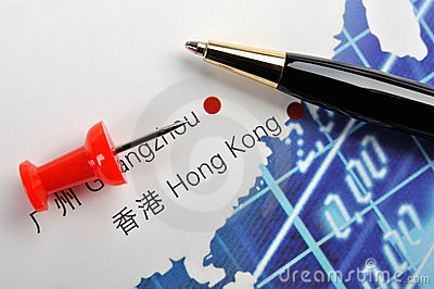 Mark of business in Hongkong, China