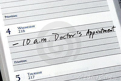 Mark the doctor appointment
