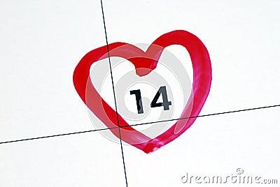Mark February 14th (Valentine's Day)