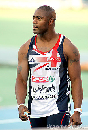 Mark Lewis-Francis of Great Britain Editorial Photography