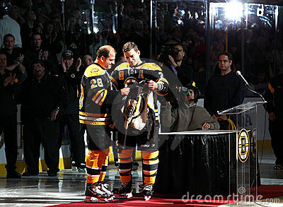 Mark Recchi and Andrew Ference Boston Bruins Editorial Stock Image