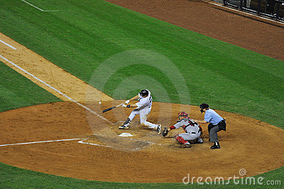 Mark Teixeira hits a home run Editorial Image