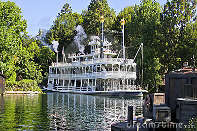 Mark Twain, Rivers of America, Disneyland Editorial Stock Photo