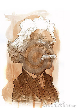 Mark Twain Sketch Editorial Image