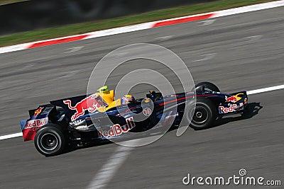 Mark webber on F1 Editorial Stock Photo