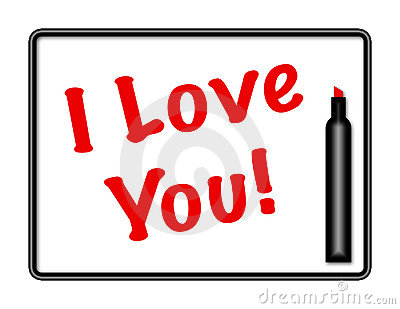 Marker Board I Love You Message
