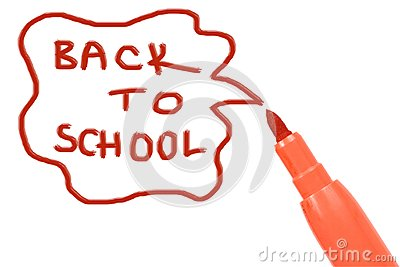 Marker pen writing -back to school