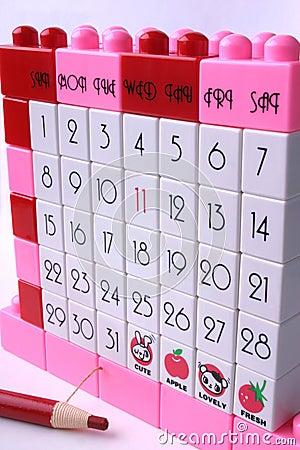 Marker Pencil and Lego Calendar