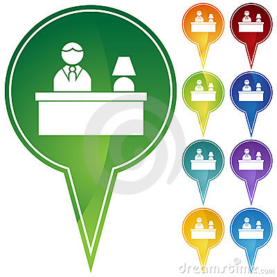 Front Desk Receptionist Clipart Marker-points-front-desk-10193209.jpg