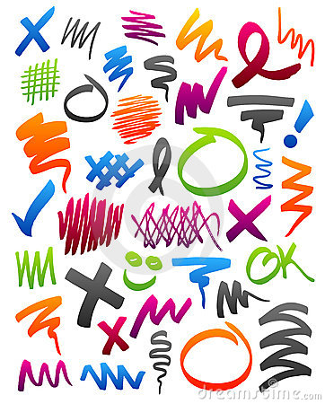 Free Marker Scribbles Royalty Free Stock Photos - 8716188