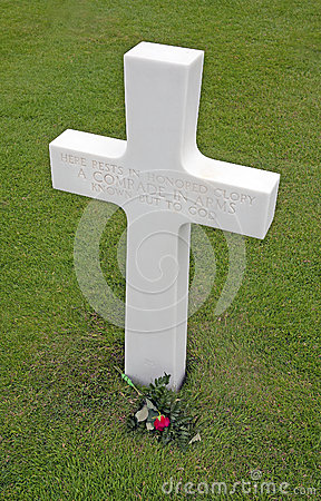 Marker of an unknown soldier