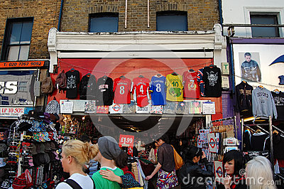 The Market at Camden Town in London Editorial Stock Photo