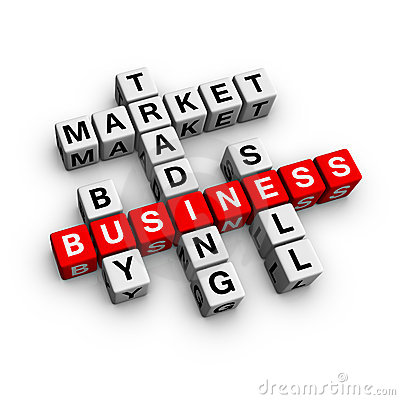 Market Crossword Stock Photos - Image: 13152903