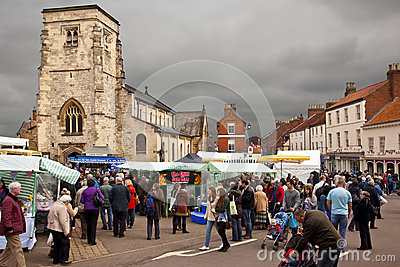 Market Day - Malton - Yorkshire - England Editorial Image