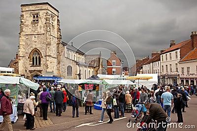Market Day - Malton - Yorkshire - England Editorial Image