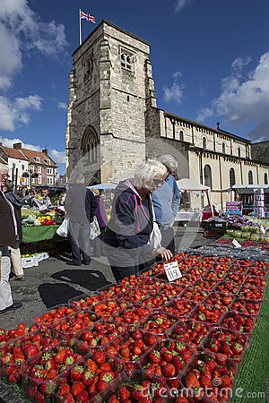 Market Day - Malton - Yorkshire - England Editorial Photo