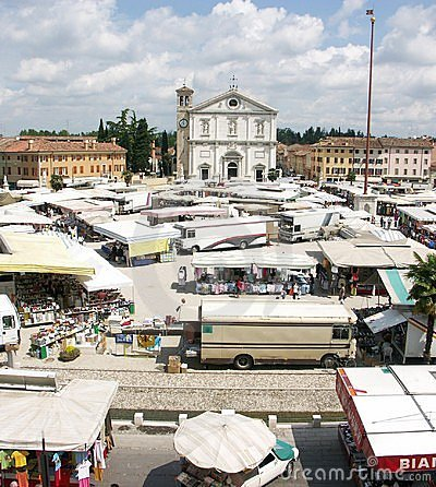 Market Day in Palmanova Italy
