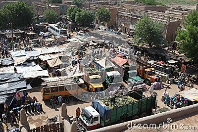 Market in Djenne, Mali Editorial Photography