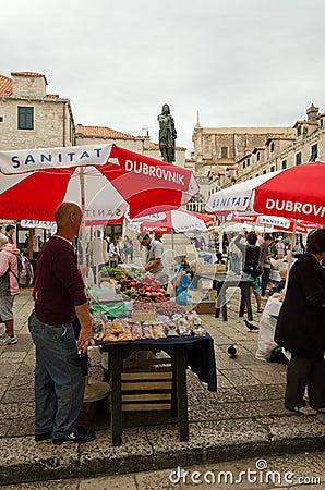 Market of Dubrovnik Editorial Stock Image