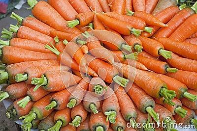 Market Fresh Carrots, Nepal