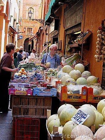 Market in Italy Editorial Stock Photo