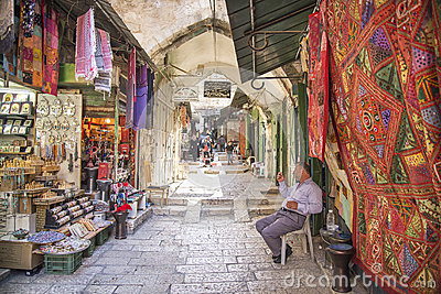 Market in jerusalem old town israel Editorial Stock Image