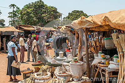 Market in Livingstone Editorial Image