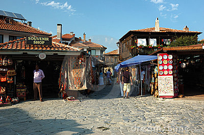 Market at Nesebar island,Bulgaria,popular landmark Editorial Photo