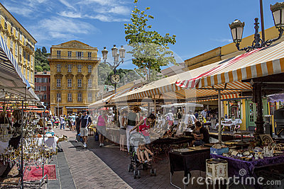 Market in Nice - South of France Editorial Stock Photo