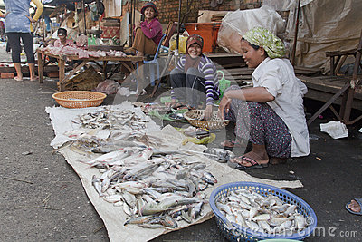 Market in Phnom Penh, Camobodia Editorial Stock Photo