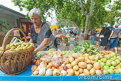 Market in Split Editorial Photo