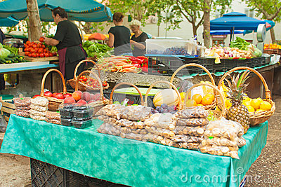 Market in Split Editorial Stock Photo