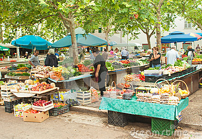 Market in Split Editorial Photography