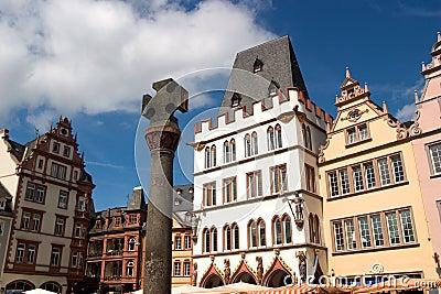 Market square facades