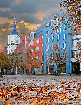 Market square in Jena, Thuringia, Germany