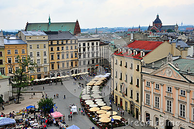 Market square of Krakow, Poland Editorial Stock Image