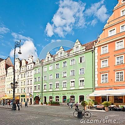 Market Square - main square in Wroclaw, Poland Editorial Stock Photo