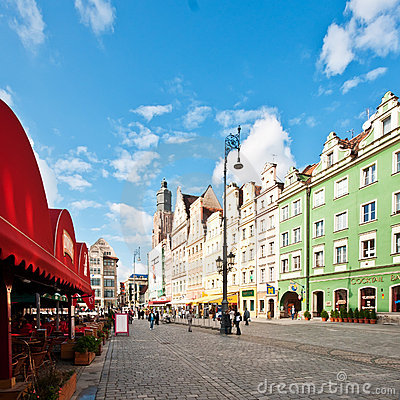Market Square - main square in Wroclaw, Poland Editorial Photography