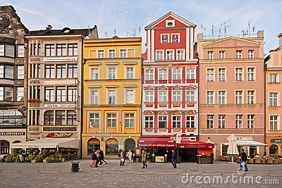 Market Square - main square in Wroclaw, Poland Editorial Image