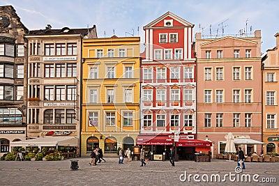 Market Square - main square in Wroclaw, Poland Editorial Image