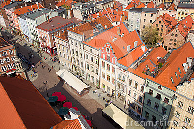 Market square in old town of Torun, Poland