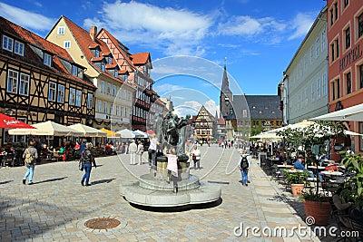 Market square in Quedlinburg Editorial Stock Photo