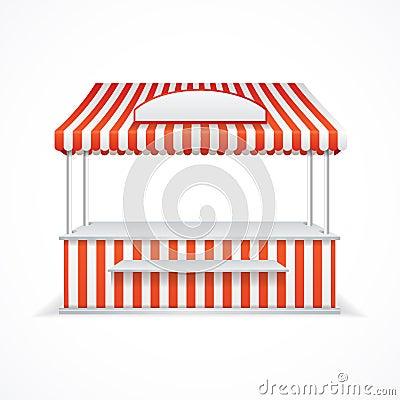 Free Market Stall. Vector Stock Photo - 58391700